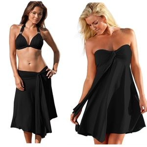 Other - Black Convertible Beach Dress/Skirt Cover Up